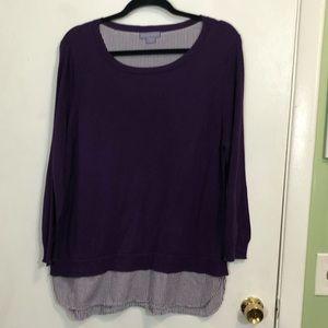 Laura Scott Layered Sweater